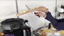 Cooking in cuffs