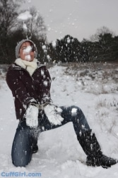 Yeaaah! Cuffed in the snow :)