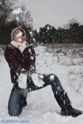 Yeaaah! Cuffed in the snow :)
