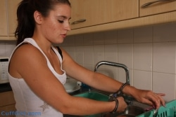 Doing the dishes in handcuffs