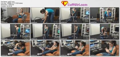 Vacuum cleaning!