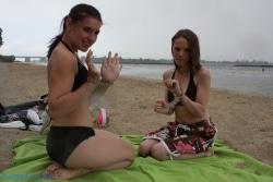Hinged cuffs on the beach!