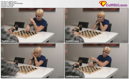 Playing draughts with a fan!