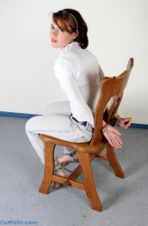 Self cuffing to a chair