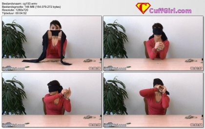 Blindfold handcuff challenge