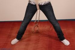 Dangling leg irons