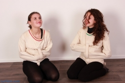 Girls in straitjackets
