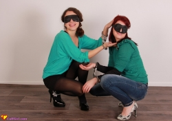 Blindfolded handcuff challenge