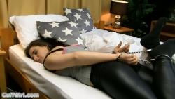 Sleeping in cuffs