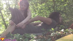 Outdoors hogtie
