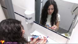 Brush teeth cuffed?