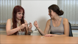 Two girls and cuffs